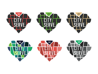 City Serve Round 2 serve seattle map love logo lines help heart giving event city charity