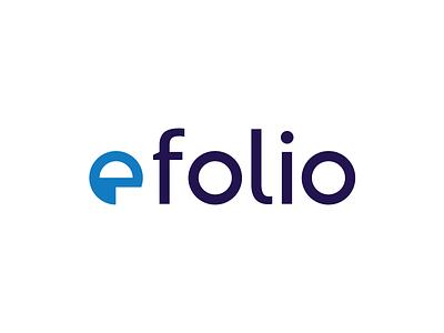 efolio cryptocurrency crypto folio portfolio financial logo wordmark