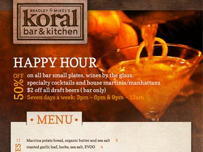 Koral Digital Display restaurant digital display motion graphic menu display