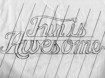 Behind-the-Scenes behind the scenes fun is awesome fia typography custom type custom font type type design sketch grid angles tshirt design