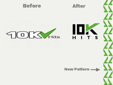 10K Hits logo concept logoicon logotype idea logo.redesign logo 10khits
