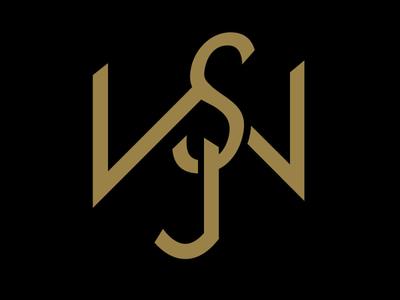 SWJ Wallet Monogram logo clean logotype monogram logo