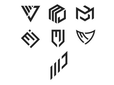 MJ Monogram Logo logodesign geomatric logos logo collection monogram mj logo