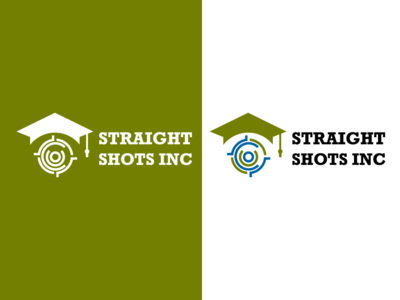Straight Shots Inc Educational Logo firearm logo illustration icon logoinspiration logotype logo