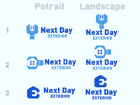 Next Day Exterior home improvements logo concept