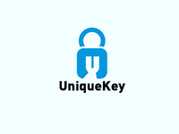 Unique key 🔑 logo concept