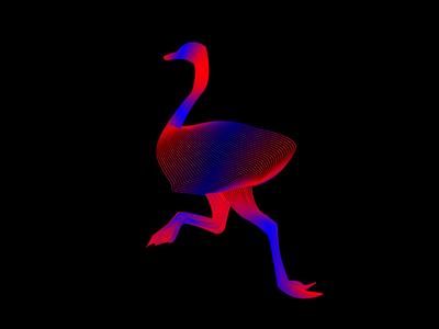 Ostrich line art ostrich art logotype logo line art