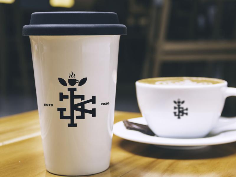 Jonathan and Keagan coffee logo monogram logo coffee logo logoicon logotype logo