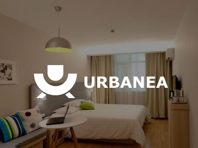 Urbanea logo concept 05 geomtaric creative logo sofa chair