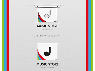 Music Store Logo Design