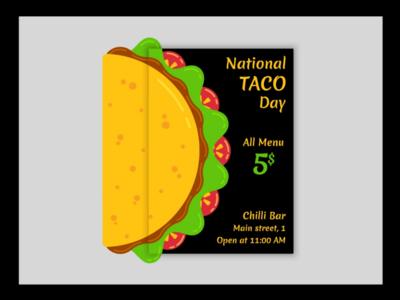 Taco food poster series design