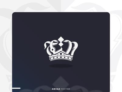 Al-Taj Arabic Calligraphy Logo. logodesigner calligrapher king arabic typography arabic calligraphy creative crown logo crown digital calligraphy identity inspiration calligraphy arabic logo