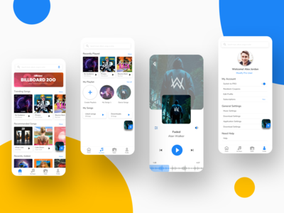 Music Player App - Floating button concept