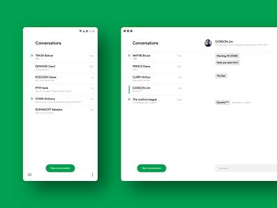 Google Hangouts Redesign mac app android app messaging minimal concept redesign hangouts google ux web design ui app
