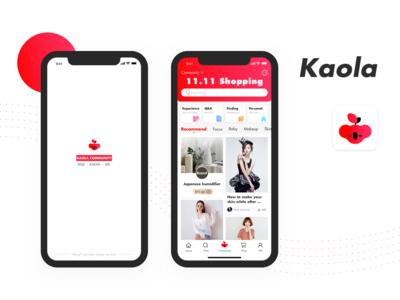 kaola community app design