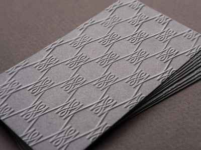 Merlin Wallace Embossed Business Card