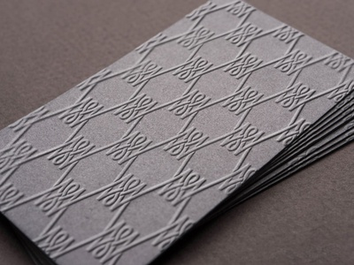 Merlin Wallace Embossed Business Card By Mike Knapek On Dribbble