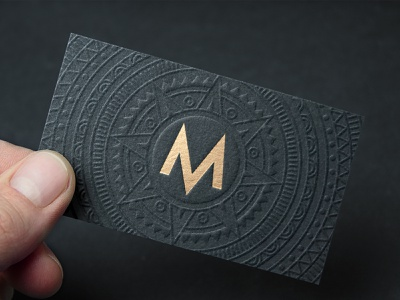 Maya Business Card and Branding luxury branding luxury luxurious gold foil embossed black gold aztec m logo mexican mexico mayan design media brand identity design graphic design branding brand identity logo design logo