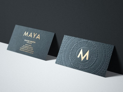 Maya Business Card and Branding stationary black black and gold gold foil mexican restaurant mexican mexico mayan luxury design luxurious embossed designer for hire design media brand identity design graphic design branding brand identity logo design logo
