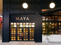 Maya Restaurant Signage & Branding Design