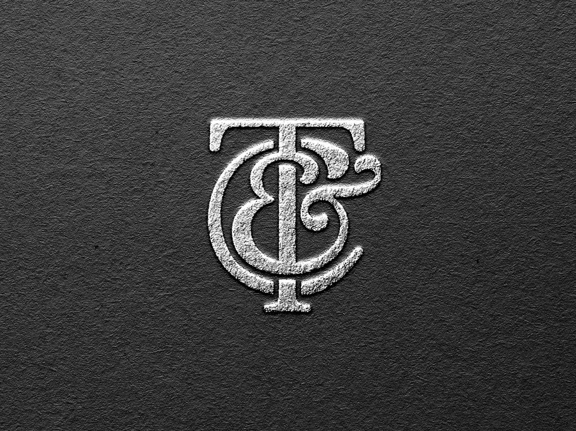 Timothy & Co Monogram Design fashion logo sophisticated graphic designer luxury brand luxury tc silver england london tailor logo tailor monogram design designer for hire brand identity design logo graphic design branding brand identity logo design