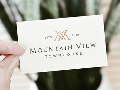 Mountain View Townhouse Business Card Design