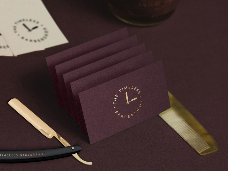 The Timeless Barbershop Business Cards