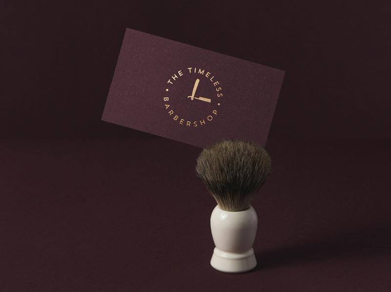 The Timeless Barbershop business card design💈