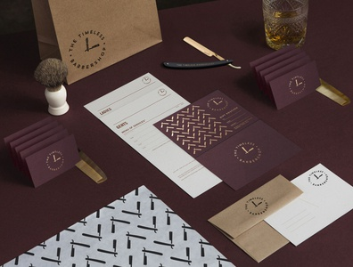 The Timeless Barbershop Stationery💈