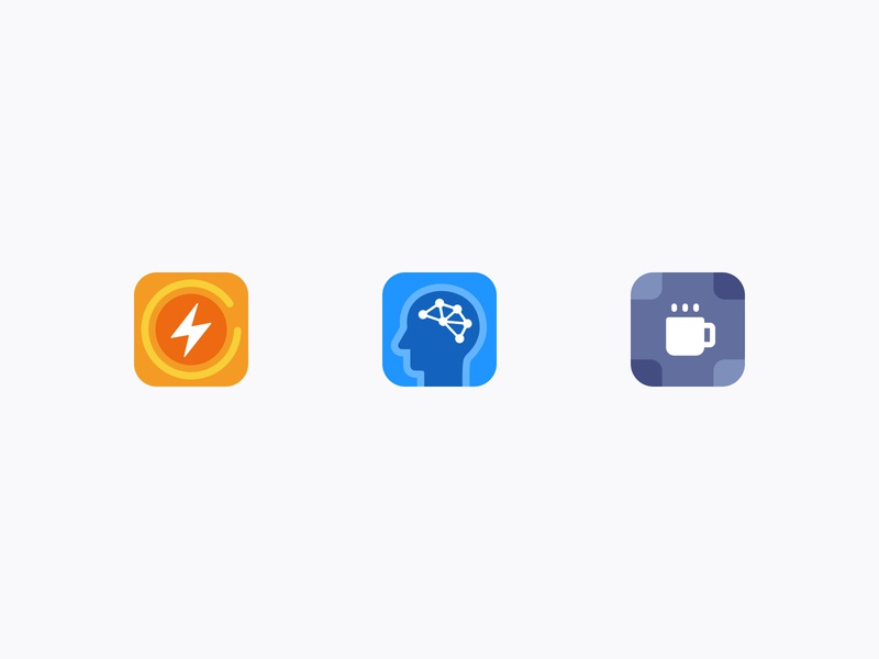 Icons for NoCaptcha fast relaxing artificial intelligence captcha graphic colorful technology icons