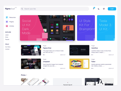 UI.Figma.Cool figma plugins plugin sketch mockup download clear attachments freebies figma resources figma website design web