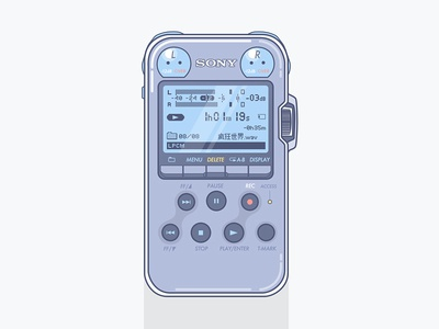 Sony PCM-M10 Portable Audio Recorder  clean illustration recorder audio portable pcm-m10 sony
