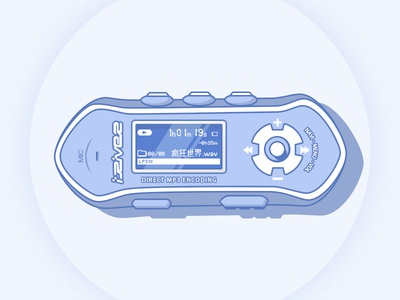 iRiver iFP-390T MP3 player iriver player mp3 driver illustration ip-390t