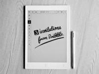 3 Invitations From Dribbble