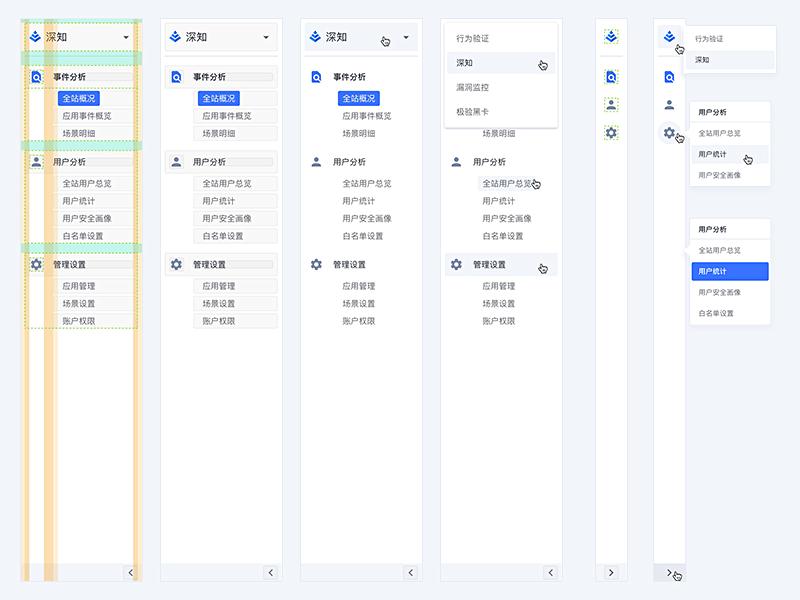 Sidebar Navigation measure nav hover layers develop response switch web layouts dashboard clean menu navigation sidebar