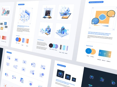 Design Guidelines - Geetest Website color hero website science blue ui web icon technology illustration