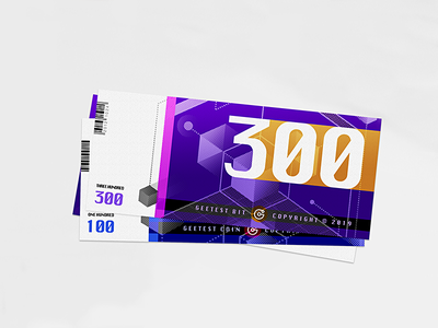 Geetest Bit graphic branding paper vector dots card number logo coin money ticket bit illustration technology blue
