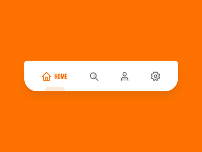 Animated tab bar