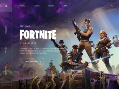 Fortnite Web Design concept