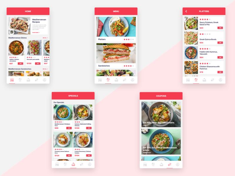 Food App Concept clean app design clean app clean flat sea food foodservice food and drink food redux adobexd user experience designs ux design user interface ui