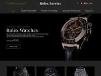 Watch Repair Website Concept