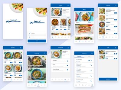Taste of Mediterranean App Redesign Concept