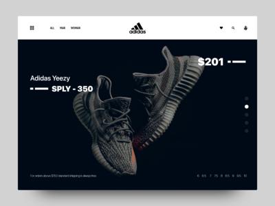 Adidas Webpage Concept