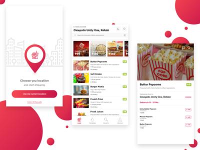 Food & Drinks Ordering App Concept