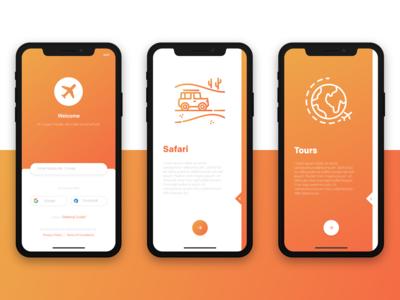 Tour & Travel App Design Concept