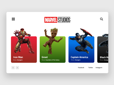 Marvel Character Web Concept