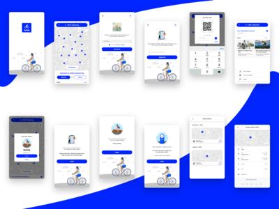 Ride a bike app design concept