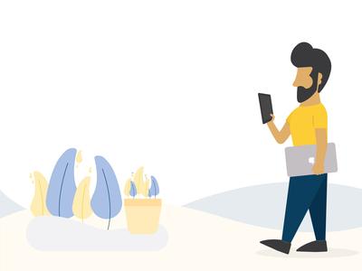 Busy man illustration