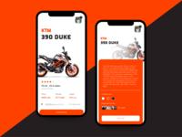 KTM app redesign concept