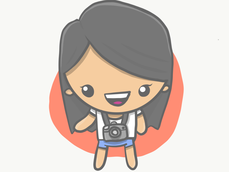 Wolesolp camera design hero 2d illustration